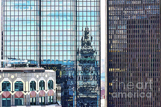 Custom House Reflection by Ruth H Curtis