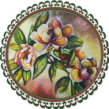 Custom Image Antique Magnolias by Mary Silvia