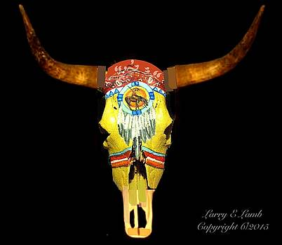Larry Lamb - Custom painted steer skulls for sale