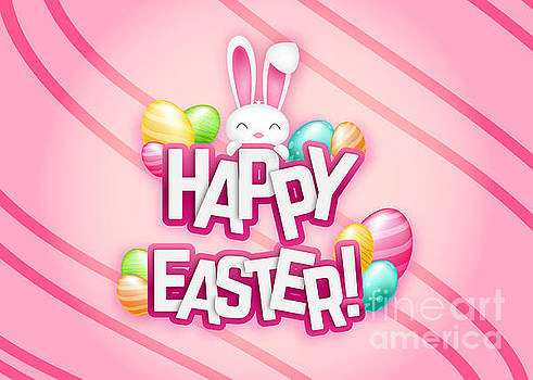 Cute Bunny Pink Easter by JH Designs