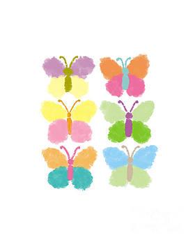 Cute butterfly illustration by Rasirote Buakeeree