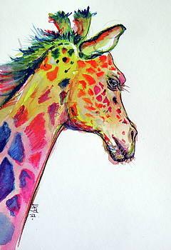 Cute colorful giraffe by Kovacs Anna Brigitta