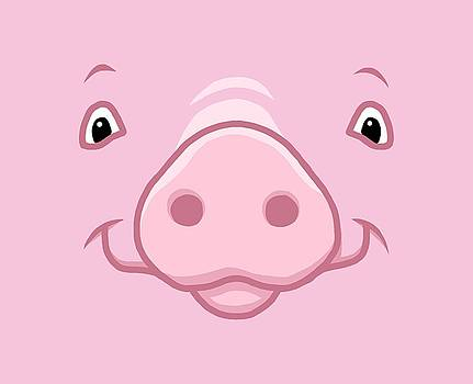 Crista Forest - Cute Happy Pink Pig Big Face