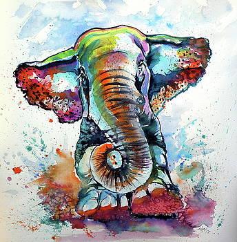 Cute majestic elephant by Kovacs Anna Brigitta