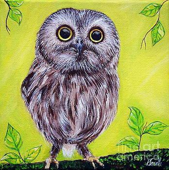 Cute Owl by Kirsten Sneath