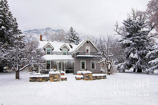 Cute Winter House  by Nicole Markmann Nelson