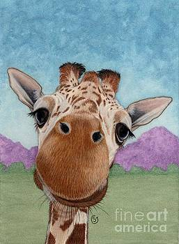 Cuter Baby Giraffe Smiling at You by Sherry Goeben