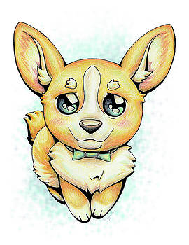 CUTIE Corgi by Sipporah Art and Illustration