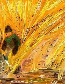 Cutting cane by Lazar Caran