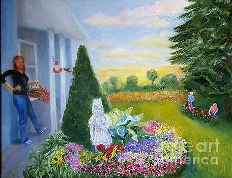 Cutting Flowers by Dorothy Weichenthal