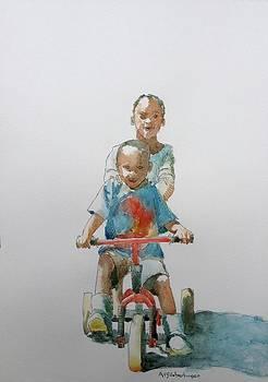 Cycling by Aurelia Sieberhagen