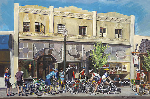 Cyclists at the Roasters by Colleen Proppe