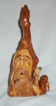 Cypress Knee Wizard by Russell Ellingsworth