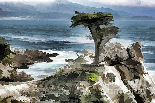 Chuck Kuhn - Cypress Tree Paint Digital