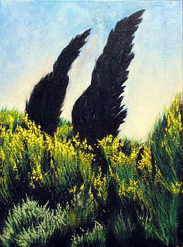 Cypresses by Vladimir Kezerashvili