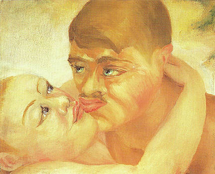 D H Lawrence Close Up Kiss by D H Lawrence