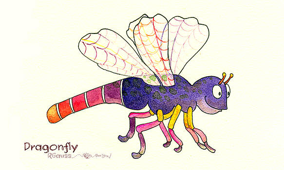 D is for Dragonfly by Rose Gauss