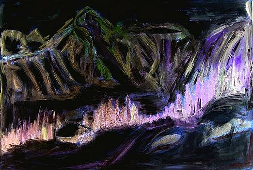 D17 - landscape by night by Kunst mit Herz Art with Heart