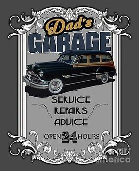 Dad's Garage with Pontiac by Paul Kuras