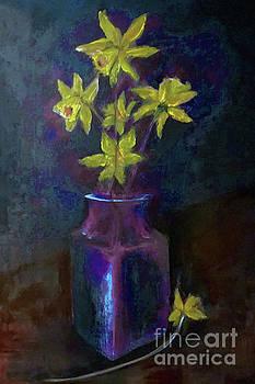 Daffodil Days of Spring Ahead Painting by Lisa Kaiser