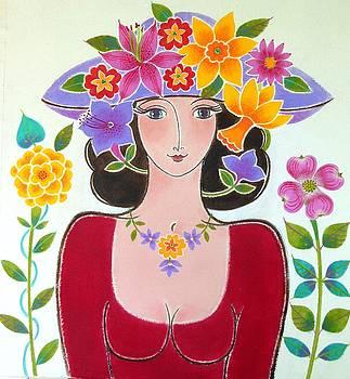 Daffodil Garden Hat by Mary Maki Rae