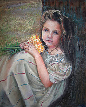 Daffodil girl by Usha P