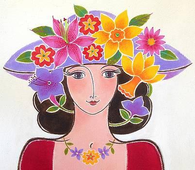 Daffodil Hat by Mary Maki Rae