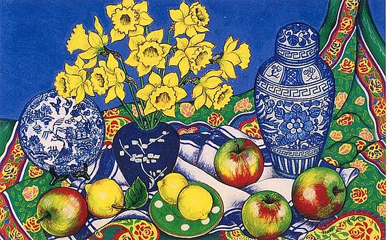 Daffodils and Apples by Richard Lee