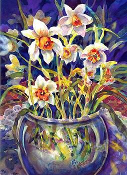 Daffodils and Lace by Ann Nicholson