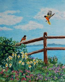 Daffodils and Orioles by Jeannie Allerton
