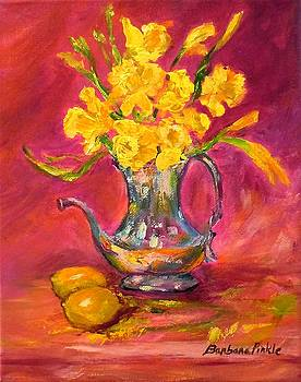 Daffodils and Teapot by Barbara Pirkle