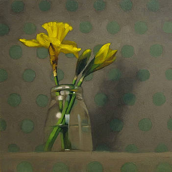 Daffodils on Dots by Diane Hoeptner