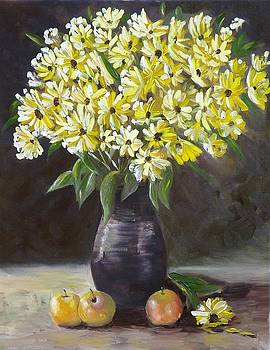 Daisies and Apples  by Courtney Wilding