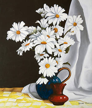 Daisies In  A Vase by Dinny Madill