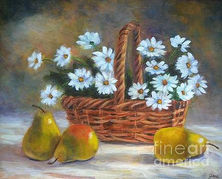 Daisies in Basket by Jana Baker