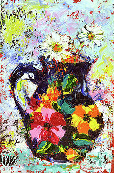 Daisies in the Portuguese Jug by Lynda Cookson