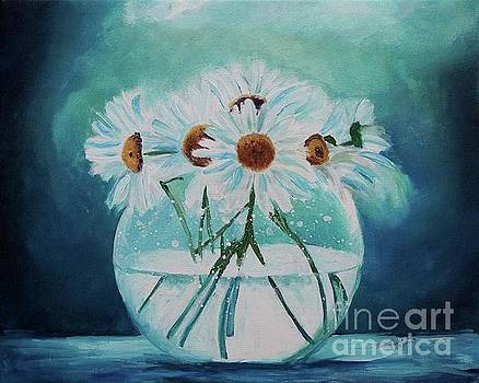 Daisies in Water by Frankie Picasso