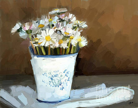 Daisies Study by Carrie Joy Byrnes