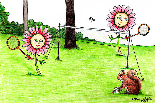 Daisy Badminton  by Kathleen Walker