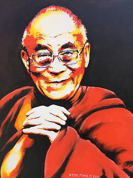 Dalai Lama by Victor Minca
