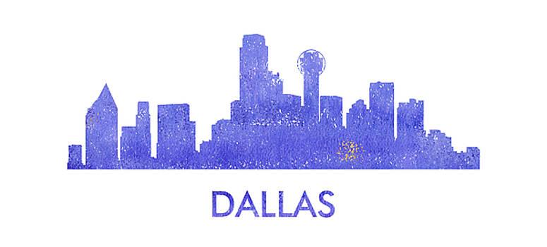 Vyacheslav Isaev - Dallas city purple skyline