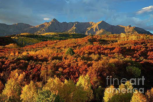 Colorado Rocky Mountain Sunrise Dallas Divide Autumn by Steve Boice