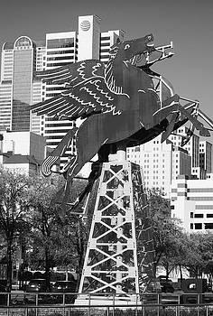 Dallas Pegasus B W 032318 by Rospotte Photography