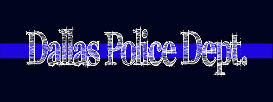 Dallas Police Dept. Blue Line Mug by Robert J Sadler
