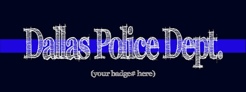 Dallas Police Dept. w Badge No. by Robert J Sadler