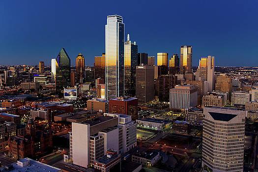 Dallas Skyline 110116 by Rospotte Photography