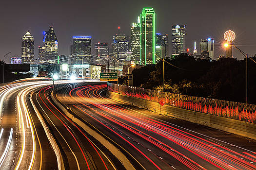 Dallas Skyline at Night by Gregory Ballos