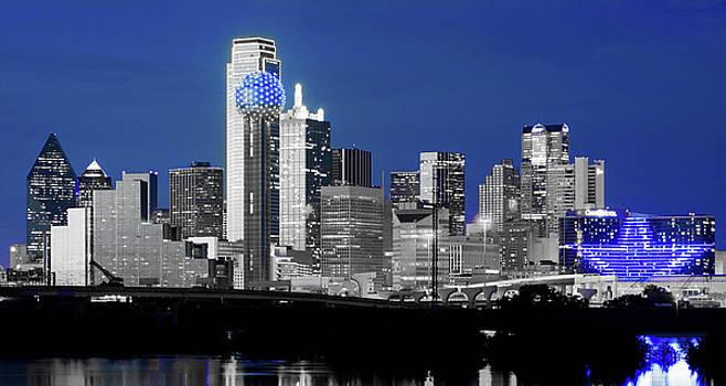 Dallas Skyline Blu 91217 by Rospotte Photography