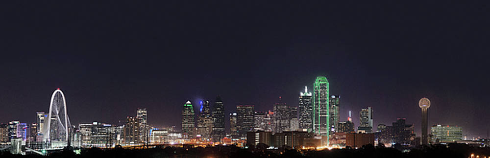 Dallas Skyline pano 051818 by Rospotte Photography