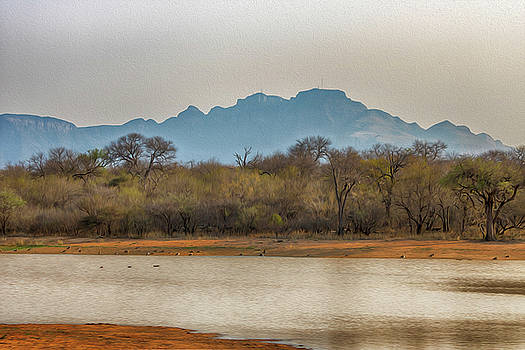 Dam with Mountain View by Petrus Bester